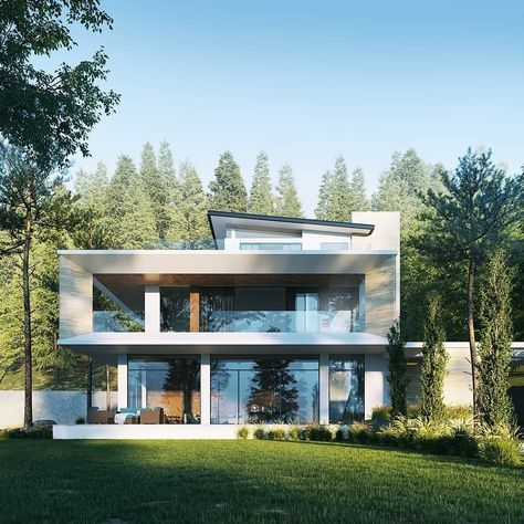 Renderbox Magazine On Instagram Render By Rvarvi House On The Hill Design By Dusant C Modern House Design Architecture House House Designs Exterior