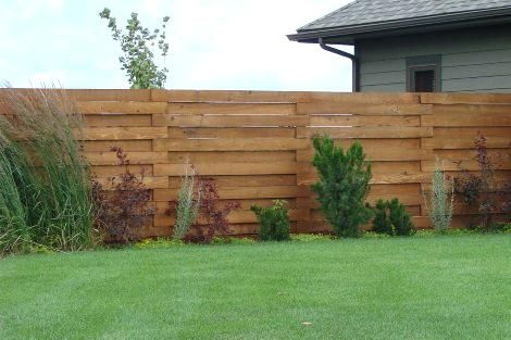 Wood Privacy Fence Styles Keystone Fence Wood Privacy Fencing Minneapolis Mn Backyard Fences Fence Design Brick Fence