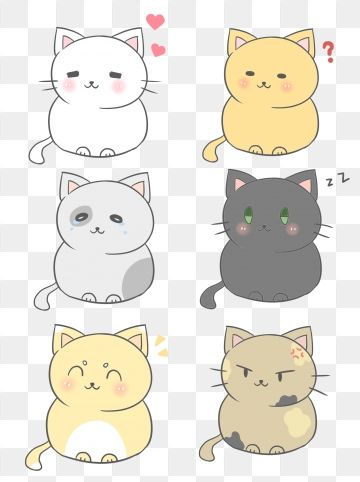 Cat Clipart Png Images Vector And Psd Files Free Download On Pngtree Cat Clipart Cat Expressions Hand Painted Cat