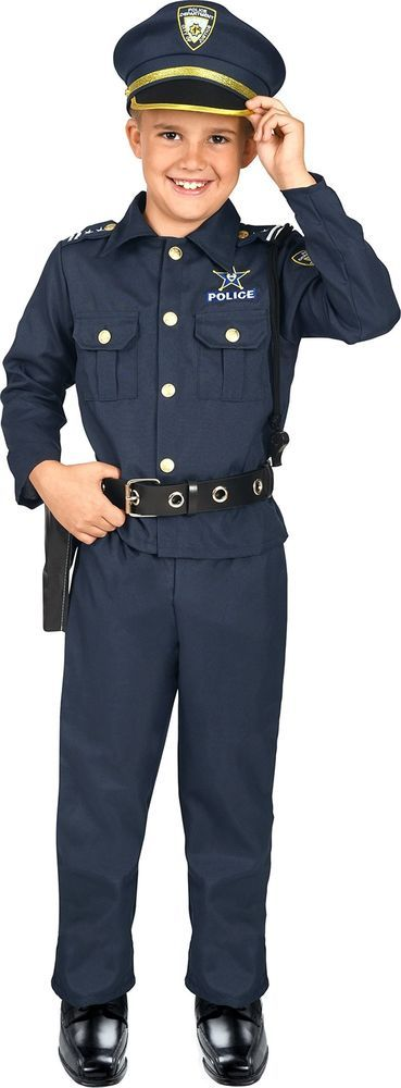 Kangaroo S Deluxe Boys Police Costume For Kids Small 4 6 Fashion Clothing Shoes Accessories Costumesreenactment Police Costume Police Costume Kids Clothes