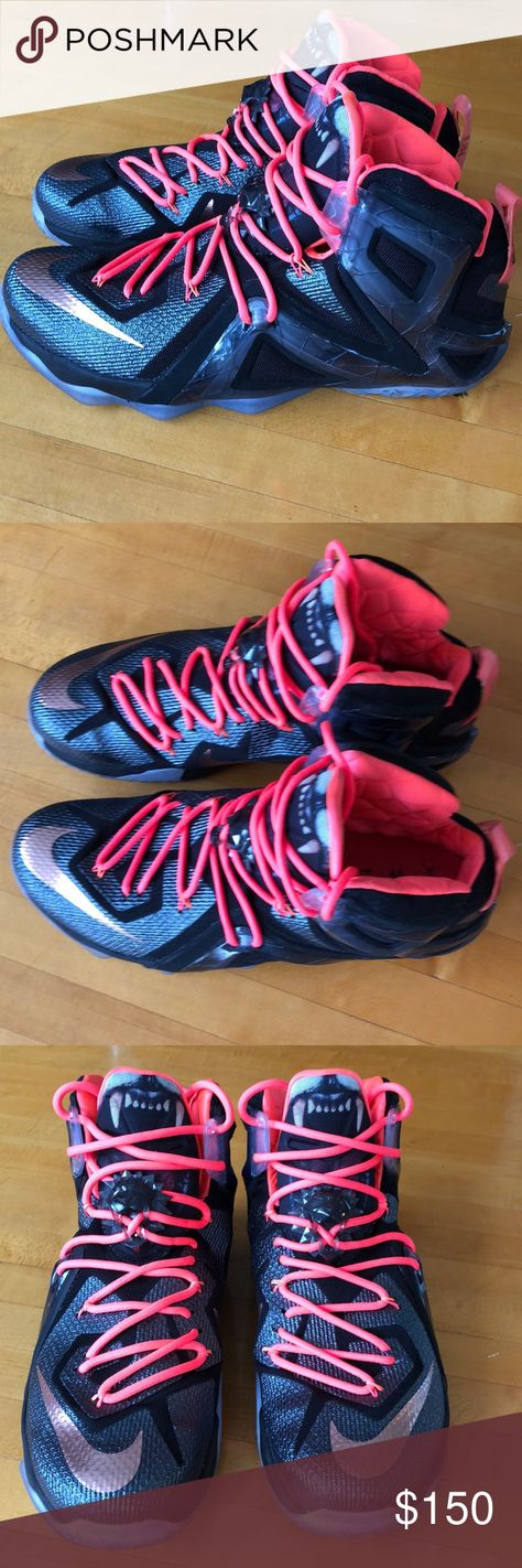 meet 9da9c bf120 Nike LeBron 12 Elite Rose Gold Special Edition Special edition The Twelve  Elite Series. Black white hot lava metallic red bronze Shoes are in  excellent ...