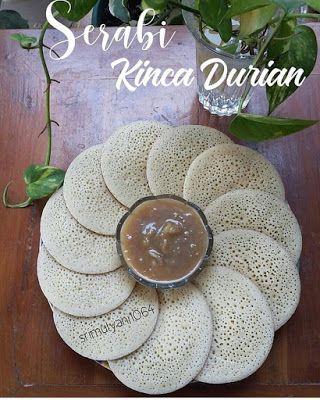 Serabi Kinca Durian Resep Resep Masakan Makanan Manis