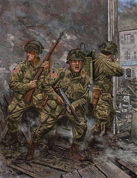 The Battle of Carentan was an engagement in World War II between airborne forces of the United States Army and the German Wehrmacht during the Battle of Normandy. The battle took place between 10 and 15 June on the approaches to and within the city o