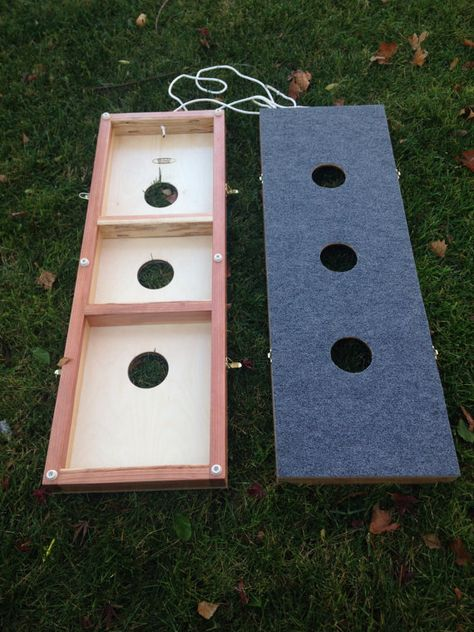 Check out Washer Board game // 3 hole washer toss // yard games // gifts for the family // backyard fun // outdoor games // wooden games // lawn games on loresmercantile
