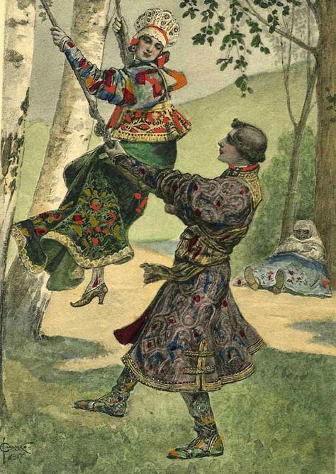Watercolour by Sergey Solomko (Russian, 1867–1928)