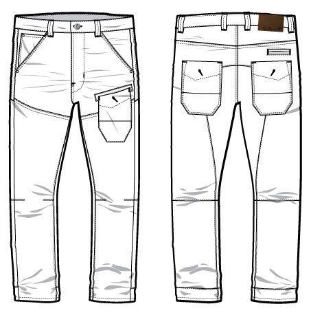 джинсы технический рисунок попытаться вернуть свои