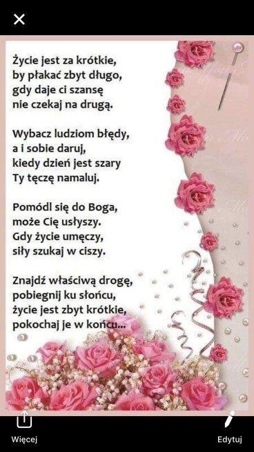Pin By Irena On Cytaty Zyciowe Thursday Prayer Everyday Prayers Polish Quotes