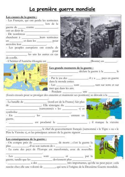 Histoire 1ere Guerre Mondiale Centenaire Histoire Cm2