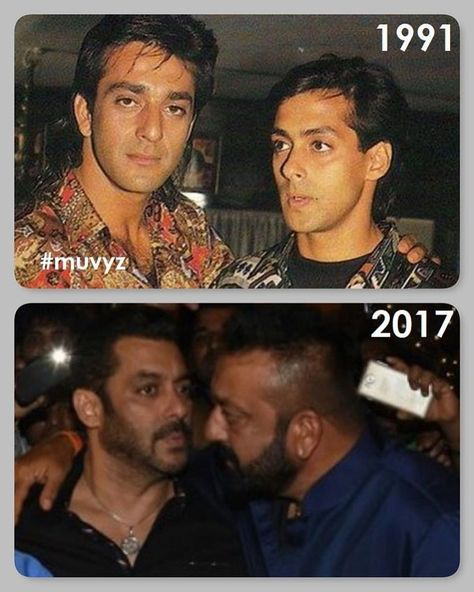 #SanjayDutt #SalmanKhan 👊👊 #BollywoodFlashback #90s #NowAndThen #Friends #muvyz081818 @duttsanjay @BeingSalmanKhan #instapic #instagood…