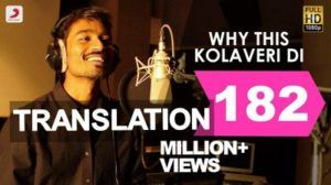 Why This Kolaveri Di Song Lyrics Translation Dhanush 3 Film Tamil Dhanushs Most Famous Why This Kolaveri Di Lyrics With Tra Songs To Sing Songs Lyrics