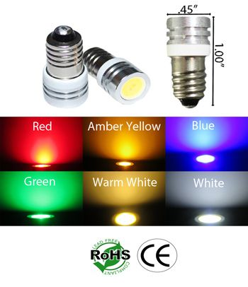 428 Led Miniature Bulb E10 Base One Watt 6v To 12v Dc Automotive Ledlight High Power Led Lights Led Lights Power Led