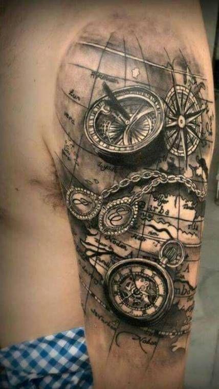 Tattoo Compass Men Shoulder Ink 21 Ideas Nautical Tattoo Sleeve Half Sleeve Tattoo Tattoo Sleeve Men