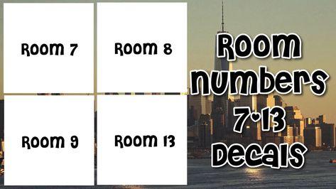 Roblox Bloxburg Room Numbers 7 13 Decal Id S Youtube Roblox