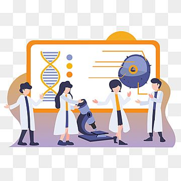 Flat Cartoon Illustration Research And Development People With Laboratory Work Doctor Clipart Scientist Vector Png And Vector With Transparent Background For Cartoon Illustration Cartoon Graphic Design Background Templates