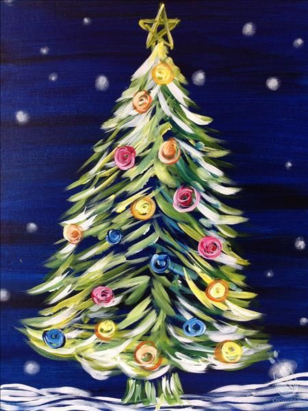 How To Paint Neon Christmas Tree All Ages With Led Lights Christmas Tree Drawing Christmas Tree Painting Christmas Paintings On Canvas
