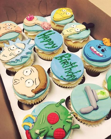 Wubba Lubba Dub Cookie Cutter Rick And Morty Cake Cupcake topper Fondant Party