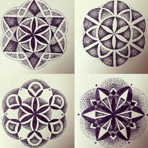 """rbitattoo: """"A few of these are up for grabs. If your looking for a stipple mandala or a lined one, email the shop… These are going for a flat rate and it's a killer price… Hurry before summer hits!"""