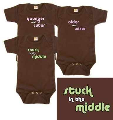 Funny baby onesie triplets computer software themed onesies i triplets girl baby gift set negle Images