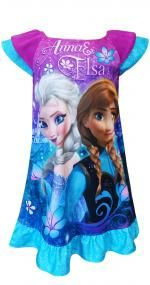 Disney Frozen Princesses Anna and Elsa Nightgown Sure to please any Forzen fan, these flame resistant night gowns for girls fea.