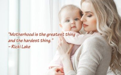 10 Best Baby and New Mom Quotes – 02 – Motherhood is the greatest thing and the hardest thing - HD Wallpapers | Wallpapers Download | High Resolution Wallpapers