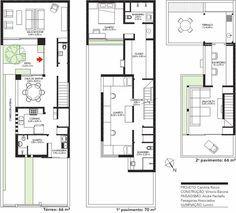 planos de casas 5 x 20