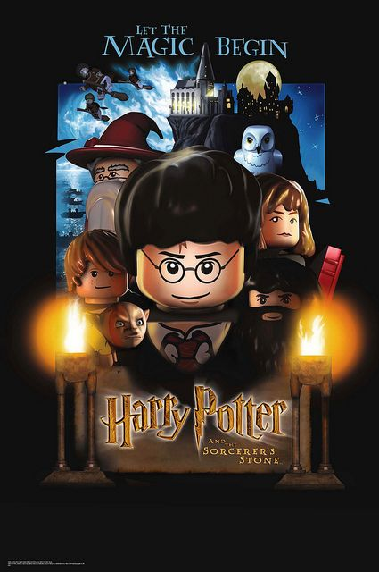 Lego Harry Potter And The Sorcerer S Stone Harry Potter Poster Harry Potter Movie Posters Harry Potter Birthday Cards