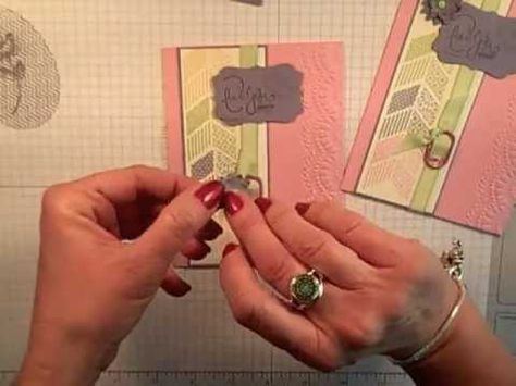 Simply Simple FLASH CARD 2.0 - Up-cycled Ribbon Slider Card by Connie Stewart