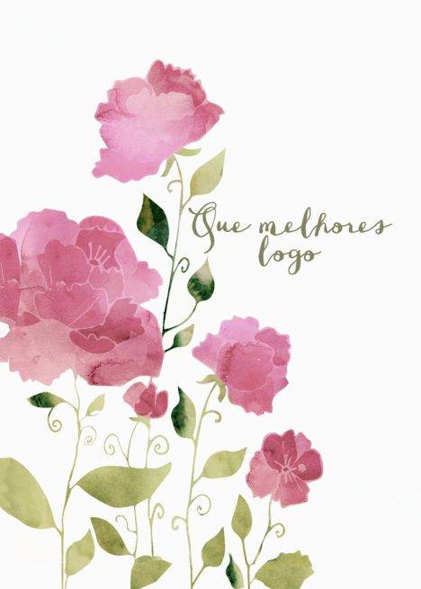 Get Well Soon In Portuguese Que Melhores Logo Watercolor Peonies