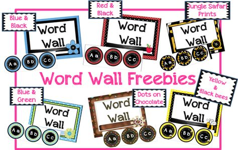 Classroom Freebies Too: Word Wall Sets!