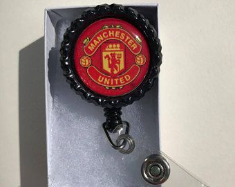 $6.99 Manchester United Badge Reel, Badge Holder, Lanyard | Badge reel,  Badge holders, Manchester united badge