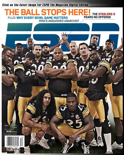 Pittsburgh Steelers Retired Players List   Steelers Defense On Cover Of ESPN The Magazine   Steelers Depot