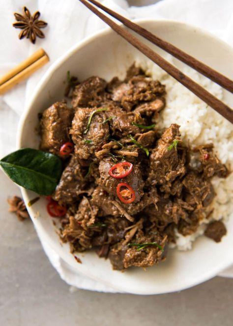 Beef Rendang Recipe Beef Rendang Recipe Asian Recipes