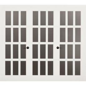 Frenchporte Madeleine 120 X 84 Zoll Weisses Einzelgaragentor Mit Fenstern Bei Lowes Com In 2020 Single Garage Door Garage Doors Garage Door Design