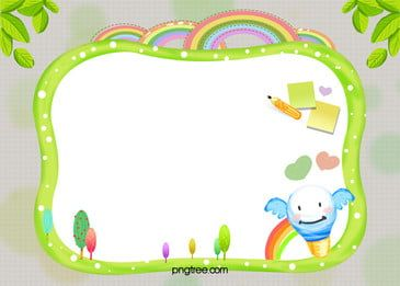 Kindergarten Children S Cartoon Childhood H5 Background Material Childrens Drawings School Frame Colorful Backgrounds