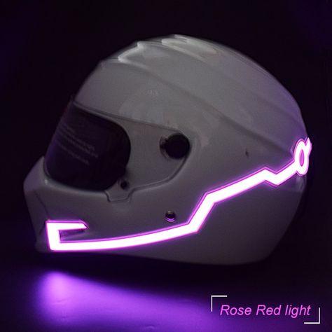 Motorcycle Helmet LED Light Kit Helmets Night Riding Signal Flashing Lights Bar