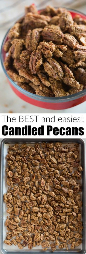 Delicious Candied Pecansare great for topping on salads, desserts, giving as holiday gifts, or just for a sweet treat to snack on.This easy candied pecans recipe can be made on the stovetop or baked in the oven.