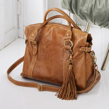 Sasha Tan Leather Handbag
