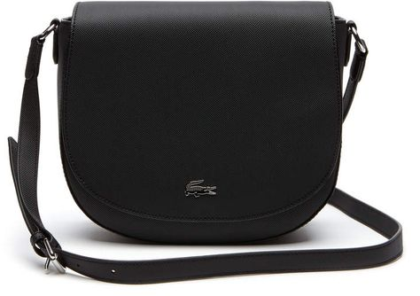 93bb52f49d Lacoste Women s Daily Classic Coated Pique Canvas Round Crossover Bag