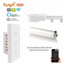 Tuya App Automatic Curtain Track Touch Wifi Control Dt52s 75w Motor 2m Or Less Track Us Wifi Curtain Switch Google Home In 2020 Curtain Track Curtain Rails