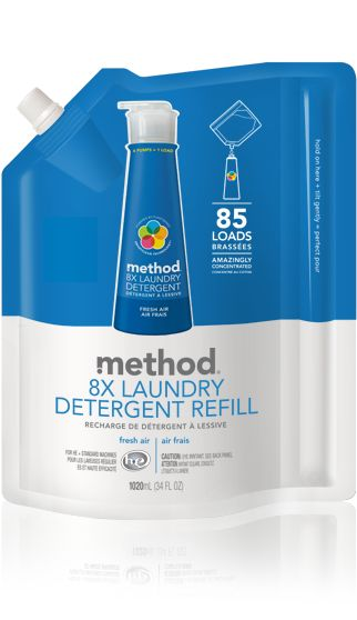 Method Laundry Detergent Refills In Fresh Air Pack 85 Loads Of