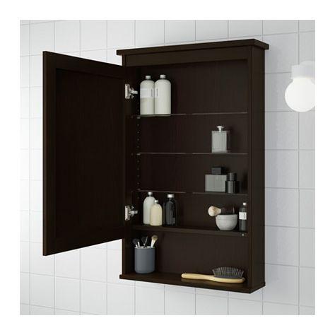 IKEA HEMNES Spiegelschrank 1 Tür schwarzbraun gebeizt Der