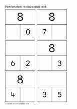 Part-part-whole missing number cards to 20