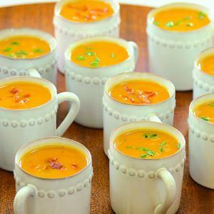 15 sweet potato dishes | Sweet-Potato Soup with Prosciutto Crisps | Sunset.com #SunsetTurkeyDay