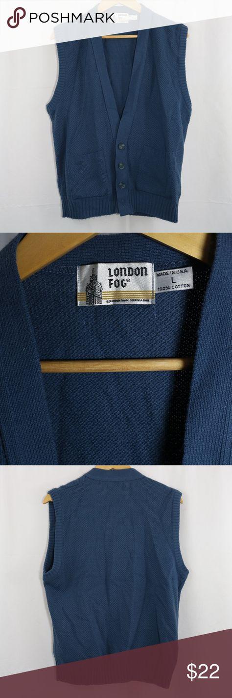 London Fog Men S L Blue Knit Sweater Vest Have A Preloved London