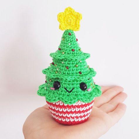 Christmas Cupcakes PDF Pattern crochet amigurumi | Etsy