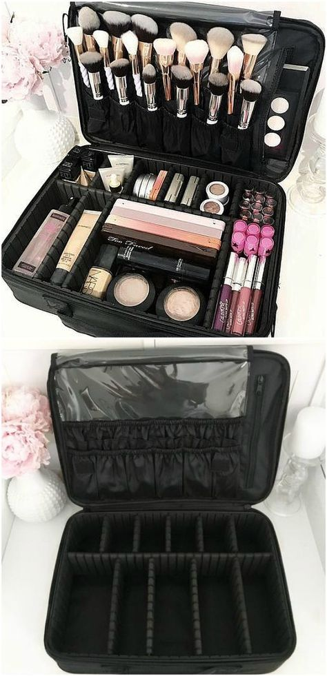 Black Makeup Bag Large