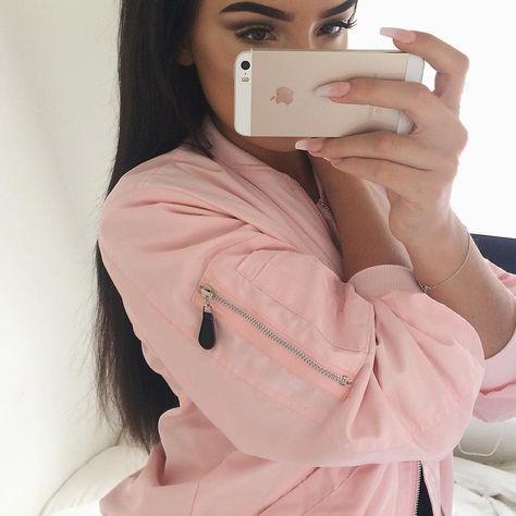 jacket by @mymum_madeit ⚪️ | selfies | Pink satin bomber