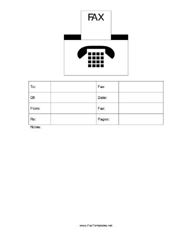 The user can optionally add a logo to this fax template, as it - fax template free