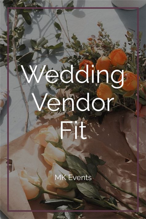 Choosing your vendors can feel like a big task. These are going to be the people that support you and help create the vision you have for your big day! Of course you want to make sure that they are a good fit for you. Click the photo to read about what to look for in my full blog post. #weddingvendors #weddingplanning #weddingplanningtips