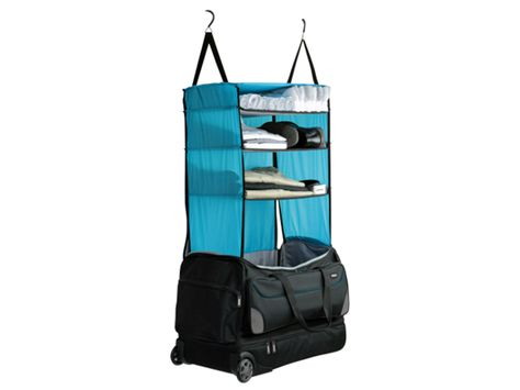 28b81cd58d Rolling Duffle Bag with Collapsible Shelves